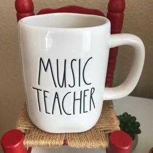 ☕️Rae Dunn MUSIC TEACHER MUG
